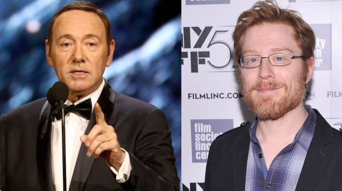 Kevin Spacey (a sinistra) e Anthony Rapp (Afp)