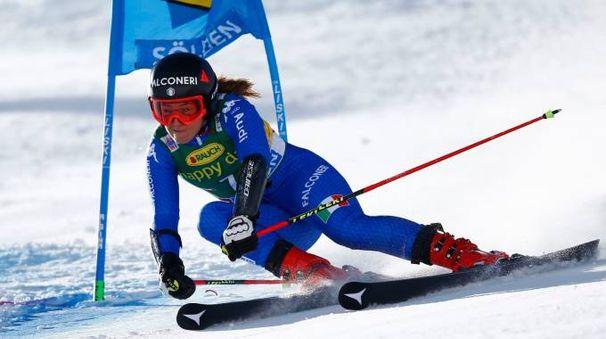 Sofia Goggia in azione a Sölden (Reuters)