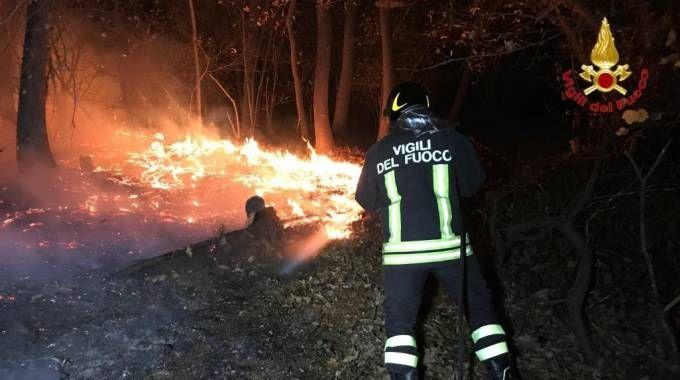 Vigili del fuoco al lavoro senza sosta