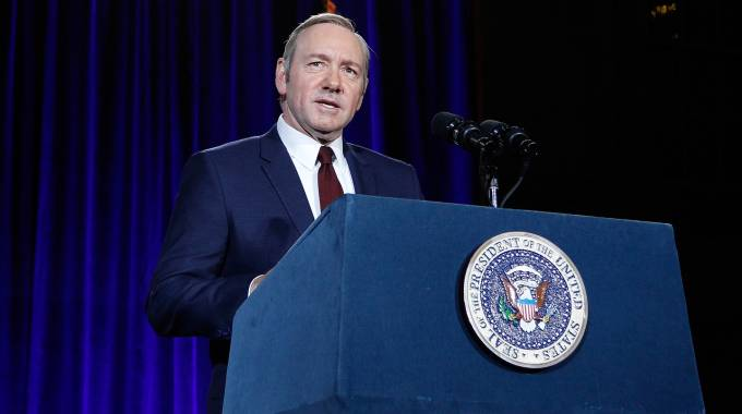 Kevin Spacey, protagonista di 'House of Cards' - Afp