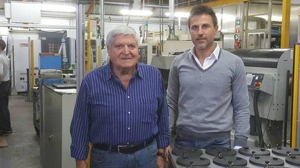 Il fondatore Dante Cavalli con il figlio Fabio