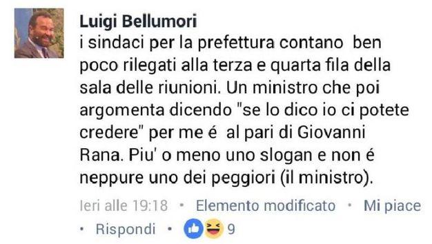 """Sindaco di Capalbio al ministro Minniti: """"E' come Giovanni Rana"""""""