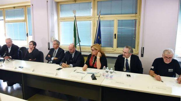 La conferenza stampa coi vertici della Ausl (Foto Fiocchi)