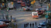 Attentato a New York, le immagini dall'alto (Lapresse)