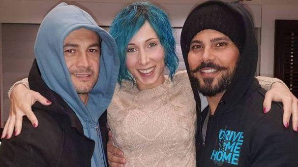 Sofia Bellucci con Marco D'Amore e Vinicio Marchioni