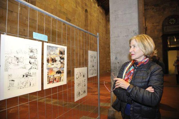 """Lucca, inaugurazione dell'evento ecumenico a fumetti """"Francesco e Lutero, la rivoluzione del vangelo"""" nel tempio valdese e nella chiesa cattolica di San Cristoforo (foto Alcide)"""