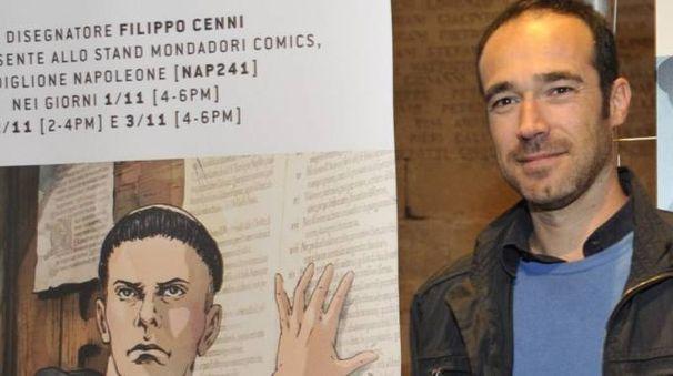 """Filippo Cenni con il """"suo"""" Lutero"""