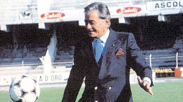 Lo storico presidente dell'Ascoli Costantino Rozzi