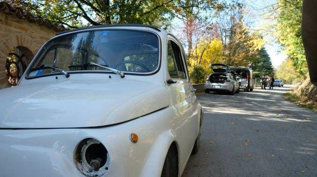 La Fiat 500 che ha investito la 31enne a Castrocaro (foto Frasca)