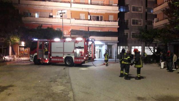 I vigili del fuoco all'Hotel House