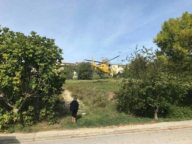 Porto Sant'Elpidio, interviene l'elisoccorso (foto Zeppilli)