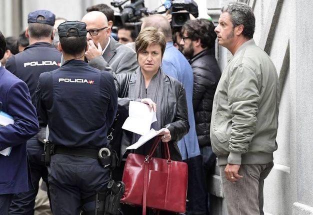 Anna Simo, ex membro della Mesa catalana (Afp)
