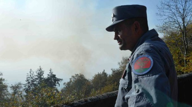 Carabinieri forestali al Campo dei Fiori