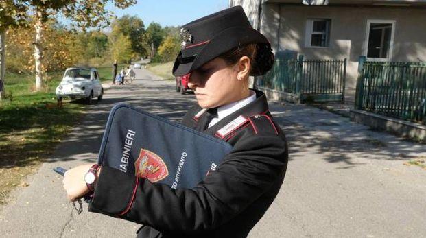 I rilievi sul luogo dell'incidente in cui ha perso la vita Elisa Mercuri (foto Frasca)