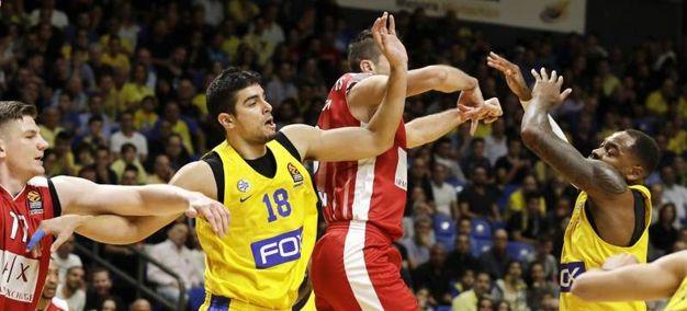 Maccabi  Tel Aviv-Olimpia Milano (Ansa)