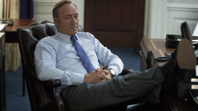 Kevin Spacey in una scena di 'House of Cards' (Afp)