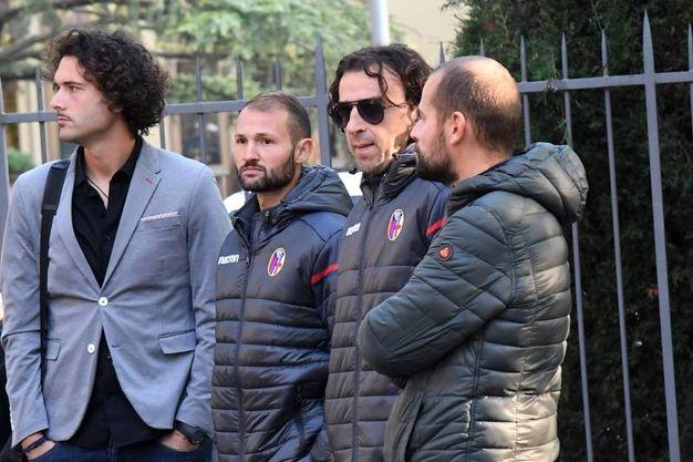 Dirigenti del Bologna al funerale (foto Schicchi)