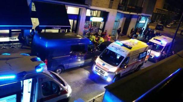 I soccorsi in via Carducci a San Giuliano