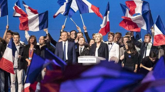 Francia, Marine Le Pen a un meeting del Front National (Ansa)