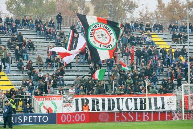 I tifosi del Carpi (foto LaPresse)