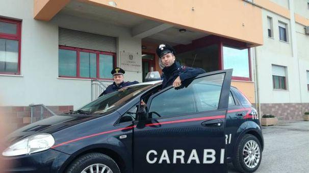 Una pattuglia dei carabinieri di Marotta