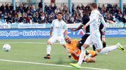 Il gol dello 0-1 al 6' (foto LaPresse)