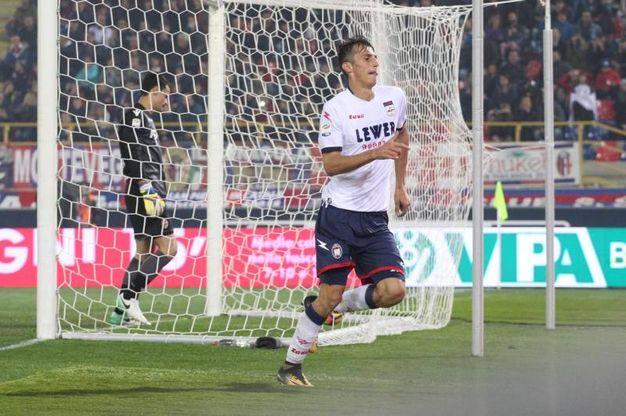 Il gol di Budimir dell'1-1 (foto Ansa)