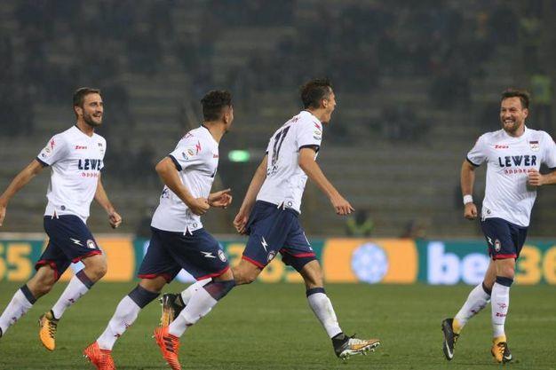Budimir festeggia il gol del 2-3 (foto Ansa)
