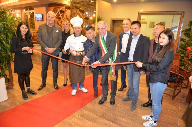 L'inaugurazione del ristorante Giardino Wu (foto Frasca)
