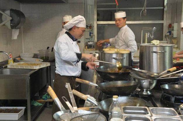 In cucina (foto Frasca)