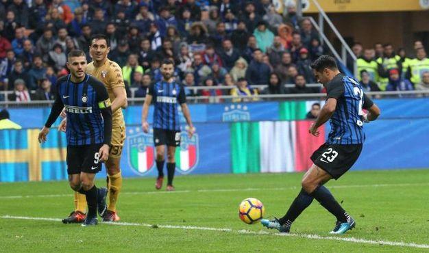 Il gol di Eder dell'Inter dell'1-1 (Ansa)