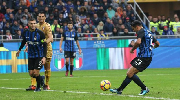 Eder dell'Inter segna il gol del pareggio