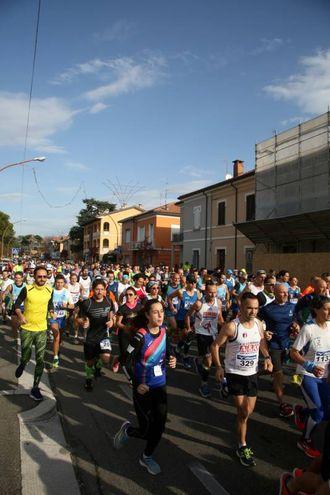 Partenza dall'Ippodromo del Savio di Cesena (foto Ravaglia)