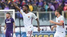 Gerson esulta dopo il gol segnato alla Fiorentina (Ansa)