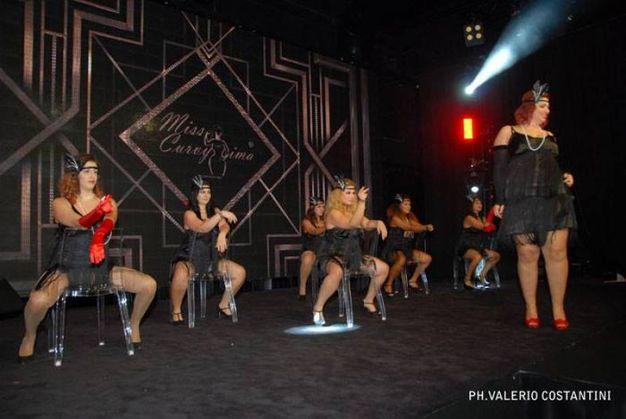 Un momento dello show di Miss Curvyssima (foto Valerio Costantini)