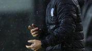 La grinta dell'allenatore dell'Atalanta (Ansa)