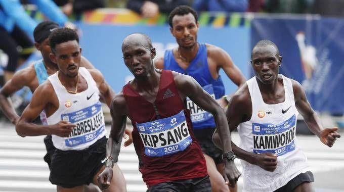 Maratona di New York, Geoffrey  Kamworor (foto Ansa)