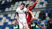 Romagnoli e il goal dello 0-1 (Lapresse)