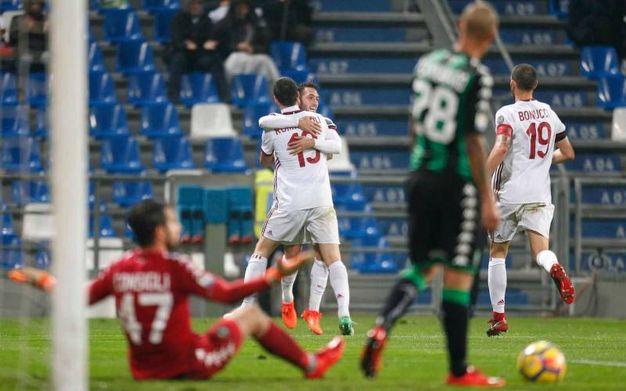 Milan in vantaggio al 39' (La Presse)