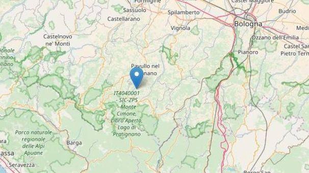 Modena, l'epicentro del terremoto del 6 novembre 2017 (Ingv)