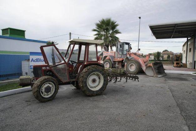 I trattori usati per il colpo (foto Zeppilli)