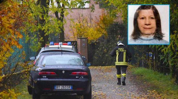 Il luogo dove è stata trovata morta Franca Locatelli, ne riquadro (foto De Pascale)