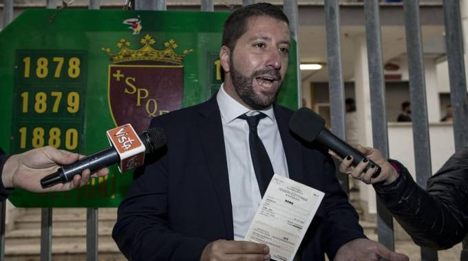 Il candidato di Casapound Luca Marsella (Ansa)