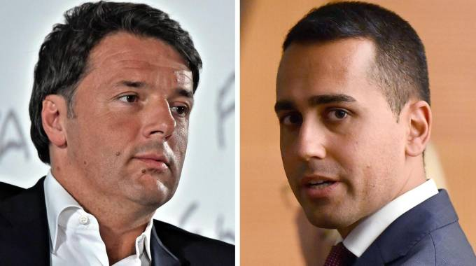 Matteo Renzi e Luigi Di Maio (Ansa)