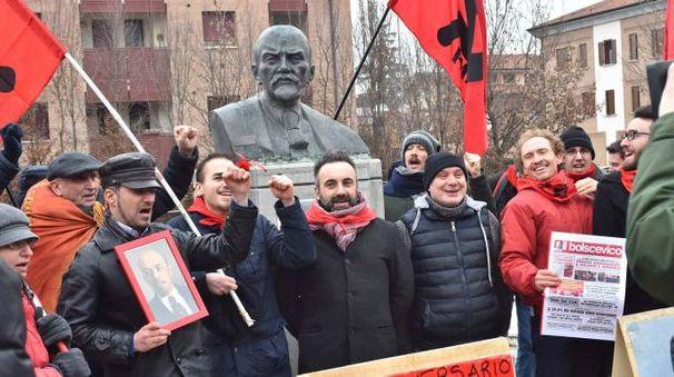 Il busto di Lenin a Cavriago