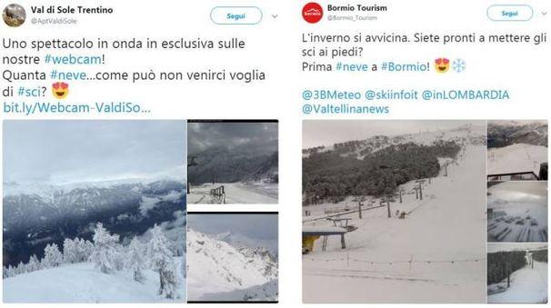 Previsioni meteo, la neve cade come annunciato su tutto l'arco alpino