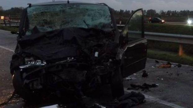 La Fiat Multipla dopo l'incidente