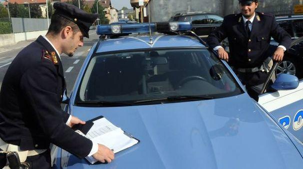 La polizia stradale di Seregno