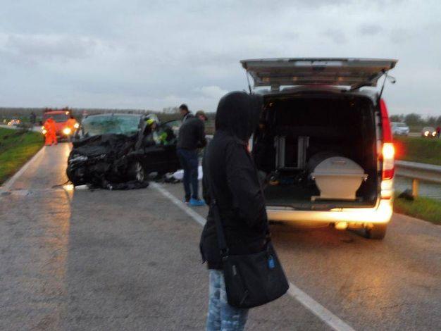 Nell'incidente ha perso la vita un uomo di 52 anni (foto Braghin)
