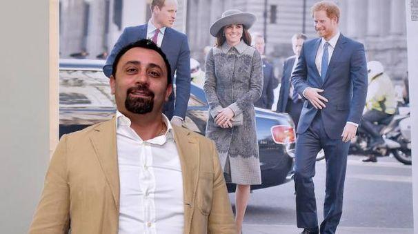 L'ad Daniele Tenti con un'immagine di Kate Middleton